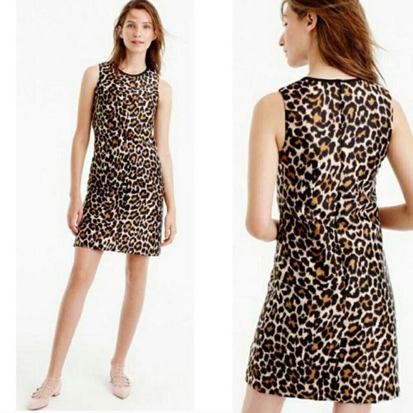 b4afdd34 J. Crew Dresses   Nwt J Crew Leopard Print Sheath Dress 12   Poshmark